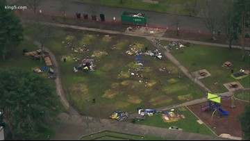 Homeless camp in Tacoma's People's Park cleared out
