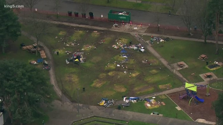 Part of Tacoma park expected to re-open after homeless sweep