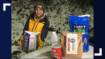 No salt, no problem: Alternatives to sidewalk salt during Washington snowstorm