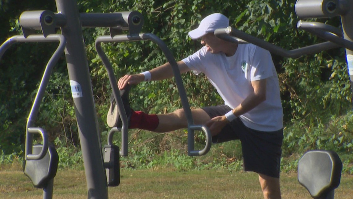 New outdoor fitness area in Puyallup park