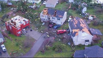 WATCH: Drone footage of tornado damage in Kitsap County