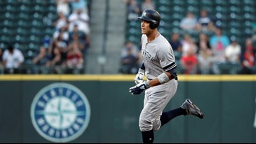 Judge hits 100th HR, Tanaka dominant as Yanks top M's 7-0