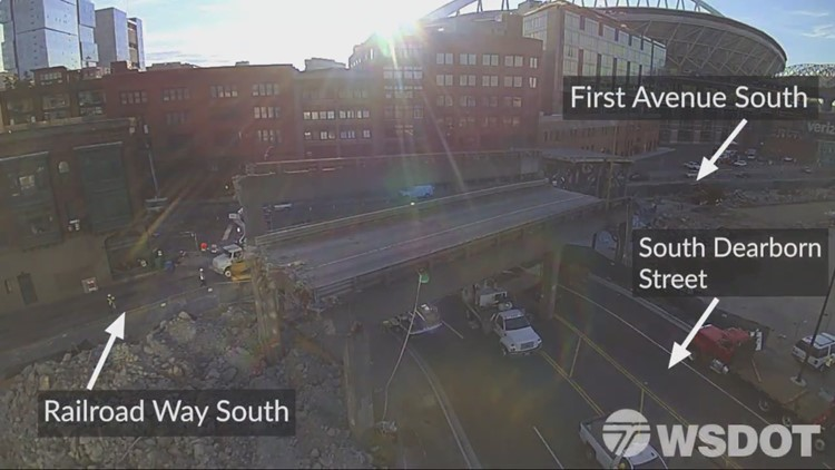 South Dearborn Street reopens as Seattle viaduct demolition finishes early