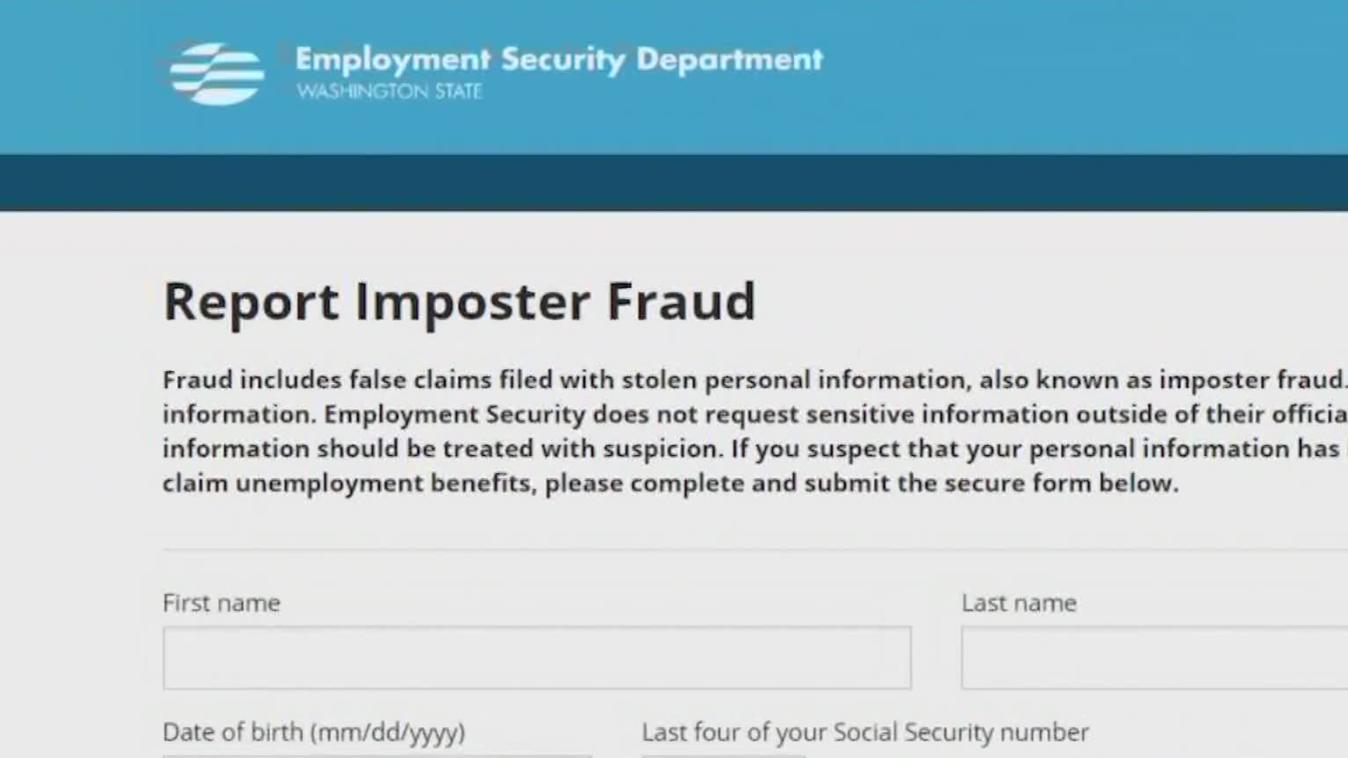Unemployment Fraud Identity Theft On The Rise In Washington King5 Com