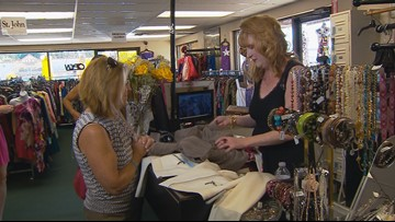 Designer clothes at thrift store prices at Texas Glad Rags