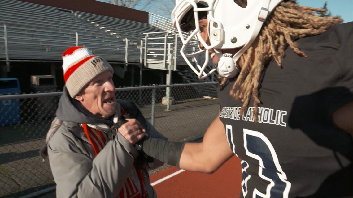 Sammamish football star forms special friendship with his biggest fan