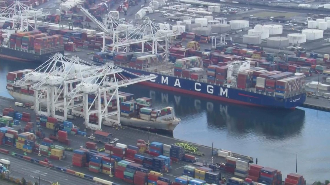Stalled cargo in Puget Sound ports straining businesses and driving up cost of goods