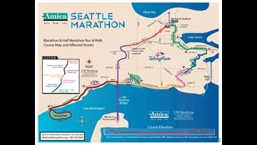 Seattle Marathon Road Closures   king5.com