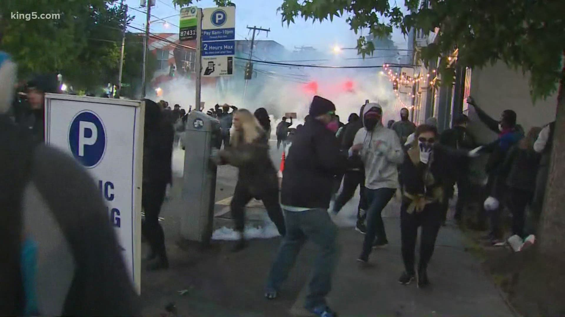 Seattle Police Deem Protests In Capitol Hill A Riot Monday Night King5 Com