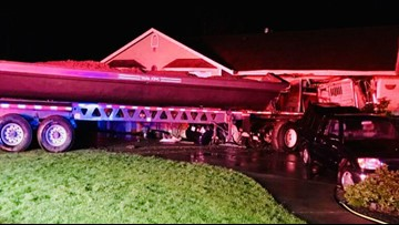 Semi-truck slams into Spanaway home, minor injuries reported
