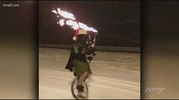 The Unipiper keeps Portland weird in more ways than one - KING 5 Evening