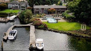 This waterfront estate in Bellevue is a stunning, private dreamhouse