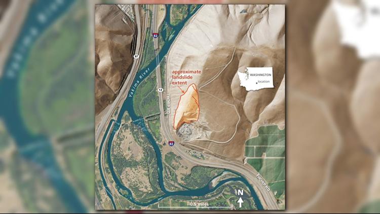Extent of Rattlesnake Ridge landslide (DNR)