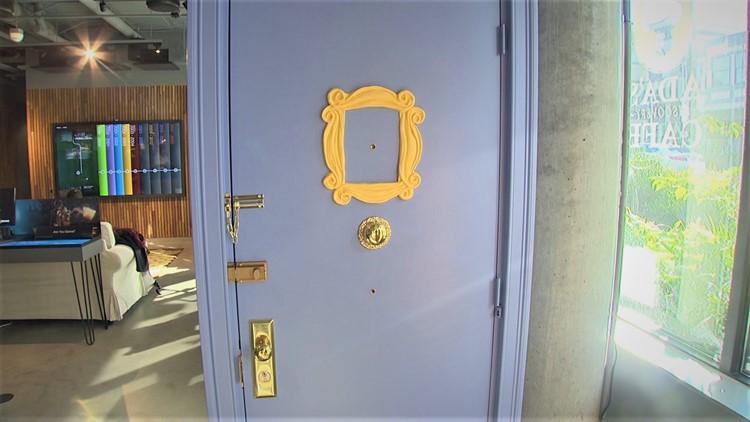 Monica's door at Central Perk