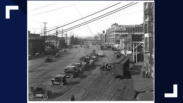Alaskan Way in the early 20th century