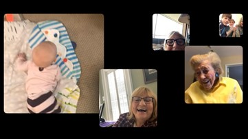 The First Family 'FaceTimes,' Connecting Four Generations