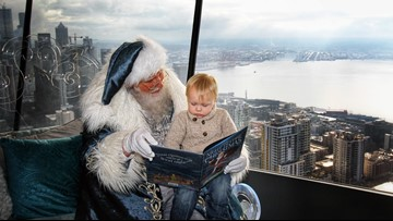 Lots of holiday happenings  up in the Space Needle