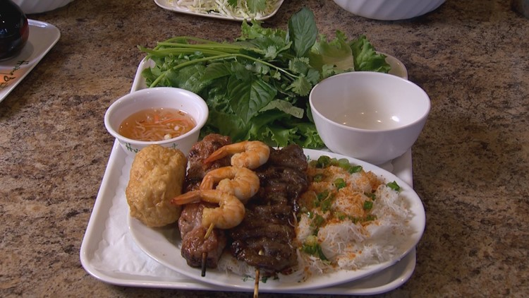 The Combination Vermicelli Platter at Huong Binh