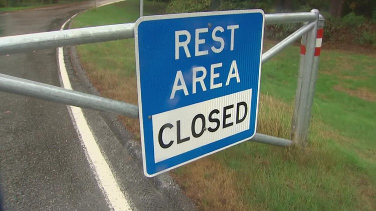 Several rest areas closed in Skagit, Snohomish and Whatcom counties