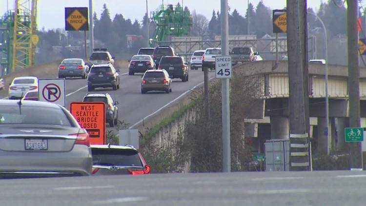 Lane closures on First Avenue Bridge create even tougher commute near West Seattle