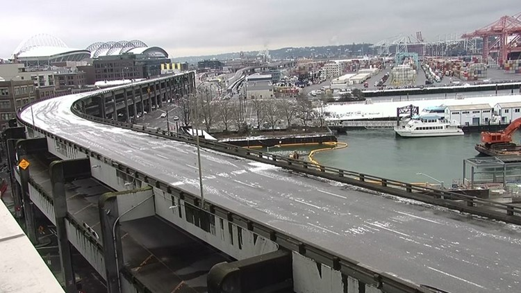 Work sites prepped to begin Seattle viaduct demolition