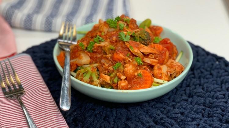 Ten Minute Zucchini Pasta Primavera
