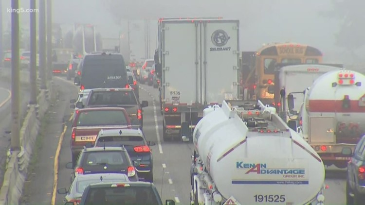 I-5 in Lakewood moving after massive morning crash