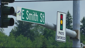 Red light camera warnings in Kent begin Monday