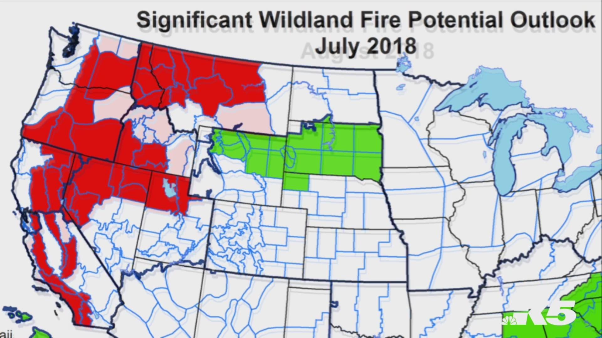 Washington State Fire Map 2018 Burn bans in effect across Western Washington   king5.com