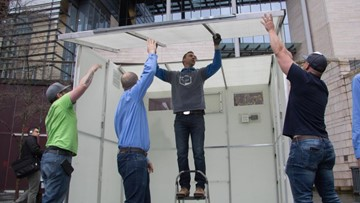 Could 'pallet shelters' help solve Seattle's homeless crisis?
