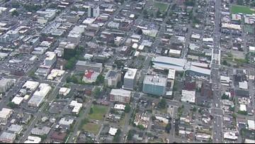 SkyKING aerials of downtown Everett