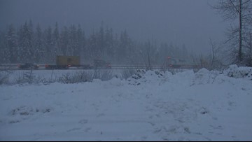 EB I-90 in Cle Elum reopens after winter weather causes multiple spinouts