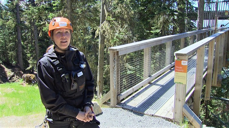 Zipline instructor, Natalie Cobby, has gone on the zipline millions of times and she still gets a little nervous.