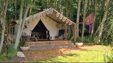 This GLAMping site on Whidbey Island feels like a vacation in another country