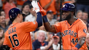Astros hit 6 homers to rout Mariners 10-2