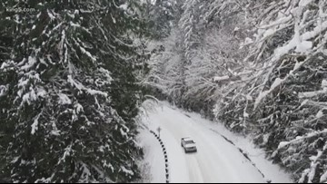 More snow and wind hitting western Washington