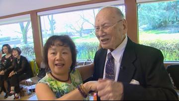 WWII vet celebrates 102nd birthday at Renton dance party