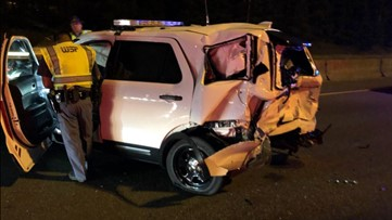 WSP trooper's vehicle struck by a suspected drunk driver near Federal Way