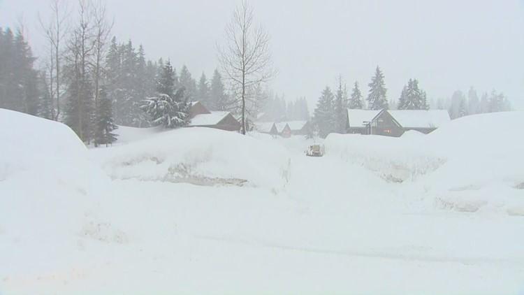 Massive snowfall over Snoqualmie Pass