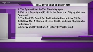 Bill Gates reveals favorite books of 2017 | king5 com