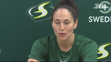 Storm guard Sue Bird on possibly season-ending knee surgery