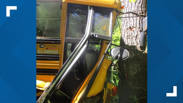 4 students, driver taken to hospital after school bus crashes in Lewis County