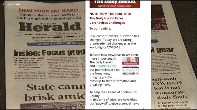 Financial fallout from coronavirus threatens survival of local newspapers