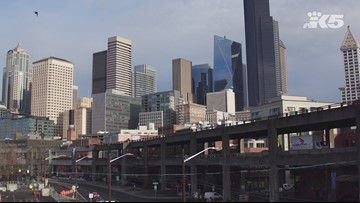 Extended drone footage: Last day to drive on Seattle viaduct