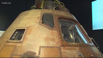 Inside the Apollo 11 exhibit