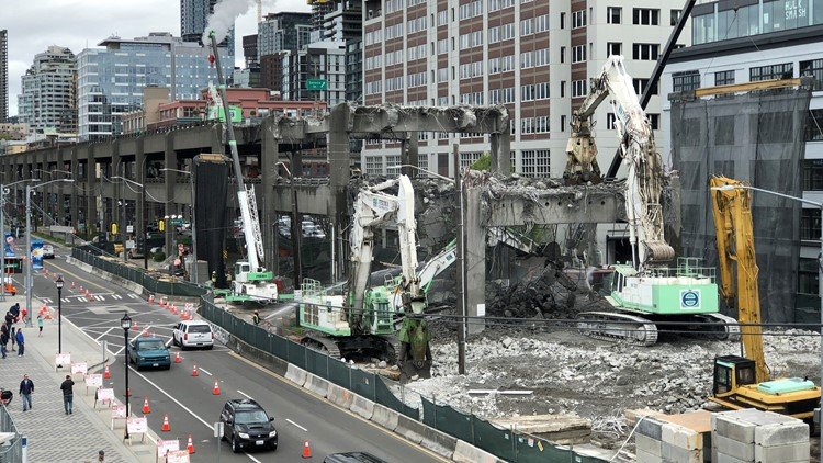 Seattle viaduct demolition is over 30 percent complete