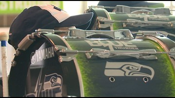 Behind the scenes as Seattle Seahawks Blue Thunder Drumline pick the lineup for the new season - KING 5 Evening
