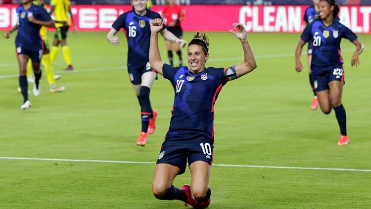 Lloyd scores quick goal and US women defeat Jamaica 4-0