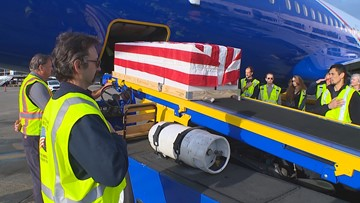 Alaska Airlines employees care for fallen service members on their final trips