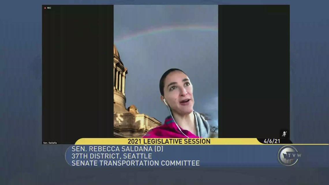 Washington state senator apologizes for breaking traffic laws during virtual committee meeting